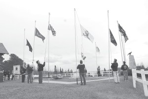 The traditional flag-raising ceremony will be held at sunrise on Veterans Day, Monday, Nov. 11 at the Grand Portage Veterans Monument at the Log School. The Grand Portage Bay American Legion will host other Veterans Day events beginning with a drum ceremony at 10:30 a.m