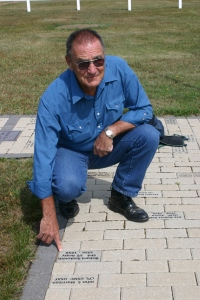 My dad at the Grand Portage Veterans Memorial. He has a brick in the memorial walkway.