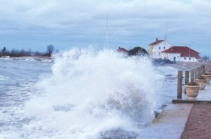 Cook County is blessed with a number of talented photographers, like Kathleen Gray Anderson, who braved the Gales of November to catch this powerful wave on the east bay of Grand Marais. Storms such as this are being celebrated in the Lake Superior Storm Festival on November 7 – 10, 2013.