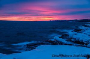 "This photo, capturing a recent ""red"" sky was taken by Grand Marais photographer David R. Johnson. See more of his work at www.davidrjohnson.zenfolio.com. Think pink!"