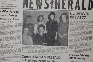 Notice the names of these hard-working women in this Jan. 31, 1963 News-Herald caption. We've come a long way!
