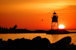 This David R. Johnson photo is a vivid example of why we love to live in Grand Marais.