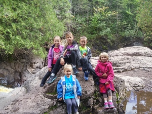 Behind my adorable grandkids is one of the Cascade River's beautiful--but potentially treacherous--waterfalls. A wonderful hike, despite the worry!