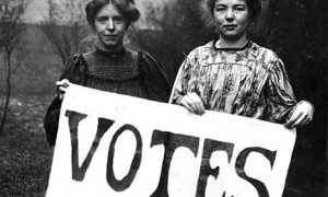 This photo from the National Archives shows the women that fought for the right to vote. I hope we all carry on their work by casting our ballots on November 4.