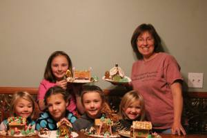 Our 2014 gingerbread houses.