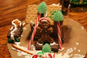 The gingerbread houses made by my grandkids are long gone, but there are still traces of the holiday around my house!