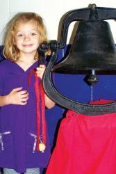A wonderful tradition at Birch Grove Community School -- on the first day of school every student gets to ring a bell to announce that school is in session!