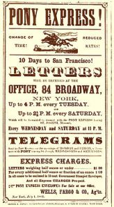 Is it time to bring back the Pony Express? The reliable delivery service would now be 155 years old.