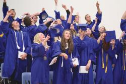 Last year's graduates celebrating. The Class of 2015 will have its turn on Saturday, May 30. Congratulations all!